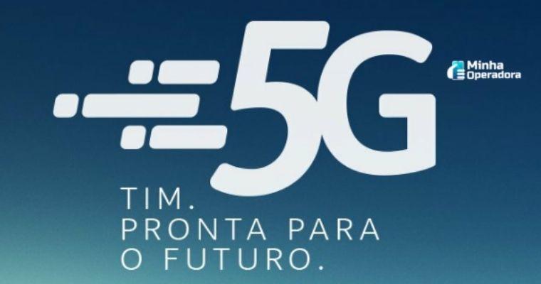 Logotipo do 5G da TIM.