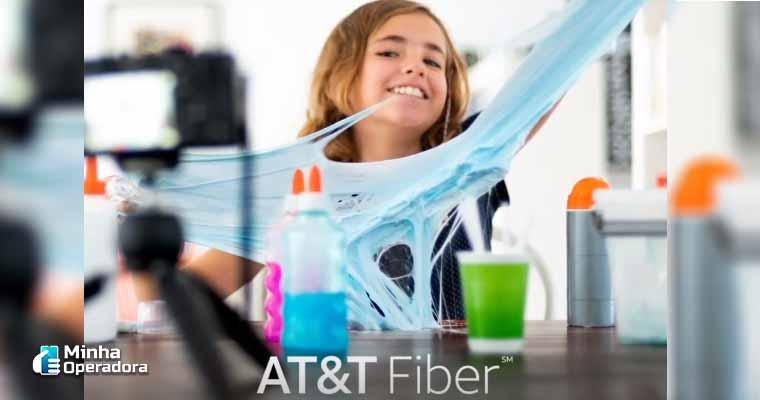 Campanha da AT&T Fiber, fibra óptica.