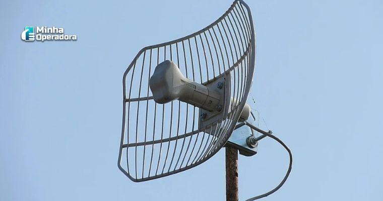 Antena de recepção de internet