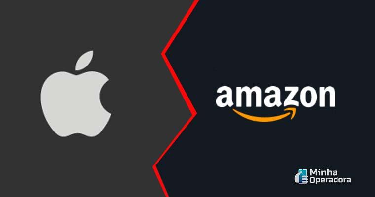 Simulação ilustrativa da concorrência entre Apple e Amazon