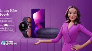 Campanha promocional da Vivo com a Ivete Sangalo em animação apresentando smartphones e acessórios.