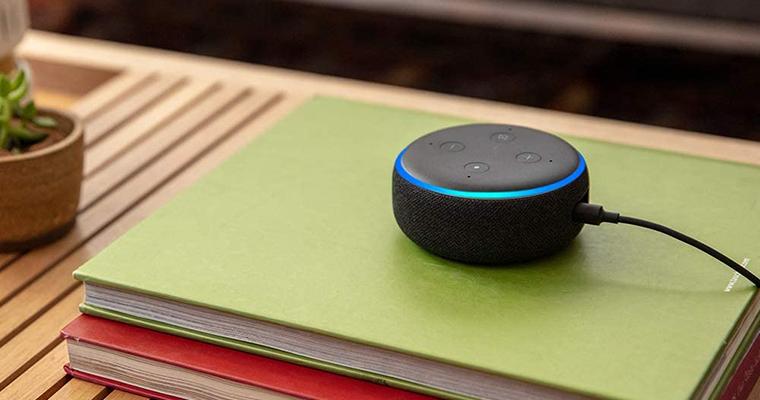 Echo Dot 3ª geração. Imagem: Divulgação Amazon