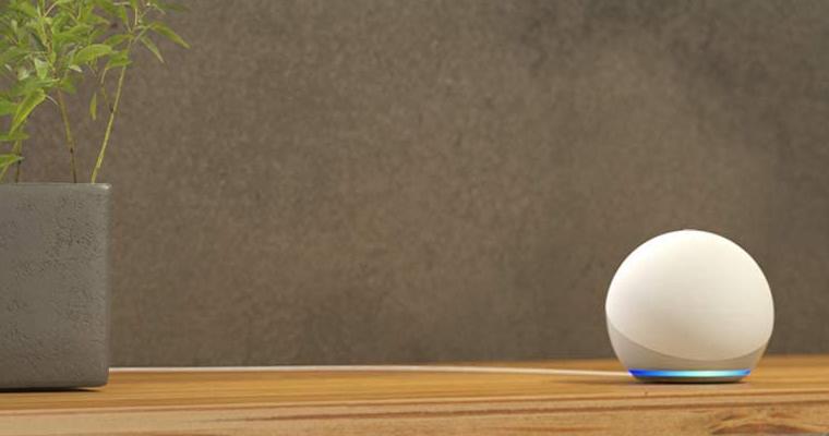 Echo Dot 4ª geração. Imagem: Divulgação Amazon