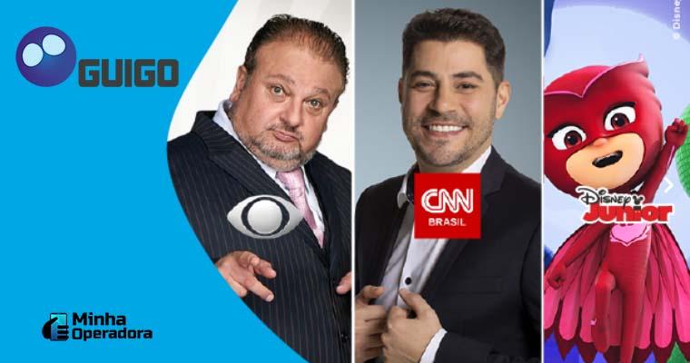 Banner com divulgação dos novos canais da Guigo TV