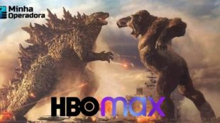 Imagem do Godzilla e do King Kong se encarando frente a frente.