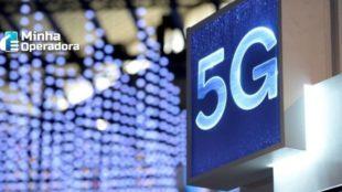 Tela exibindo a palavra 5G.