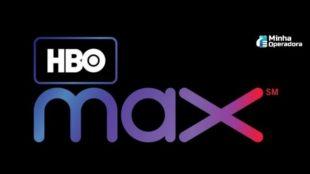 Logomarca HBO Max com o fundo preto
