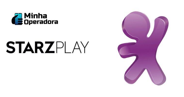 Logomarca StarzPlay à esquerda e VIVO à direita