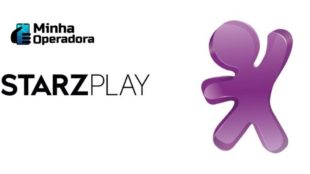 Logomarca StarzPlay à esquerda e da VIVO à direita