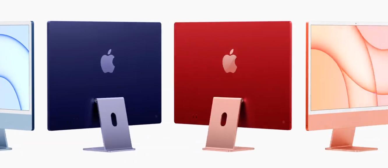 Novo iMac, agora em cores.