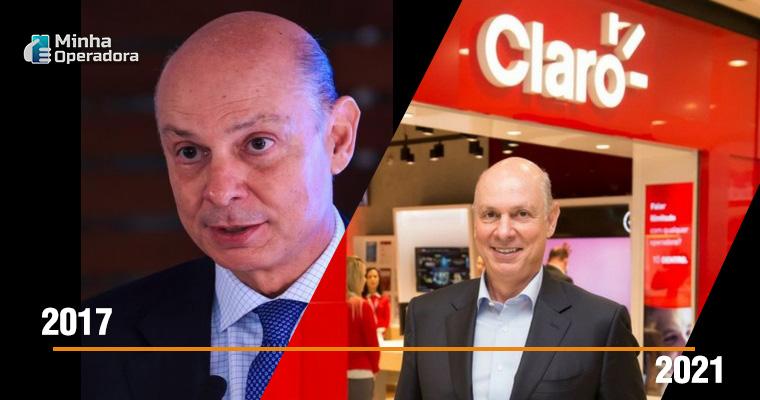 Linha do tempo com Paulo César Teixeira, CEO da Claro.