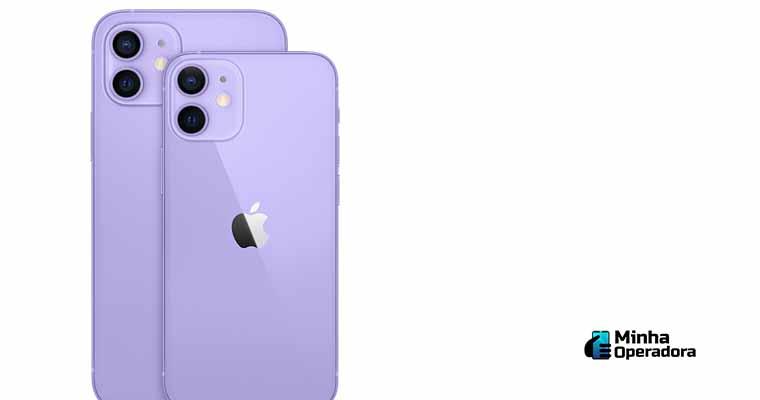 iPhone 12 roxo. Imagem: Divulgação Apple