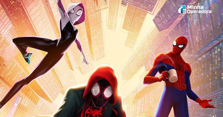 """Cartaz do filme """"Homem-Aranha no Aranhaverso"""""""