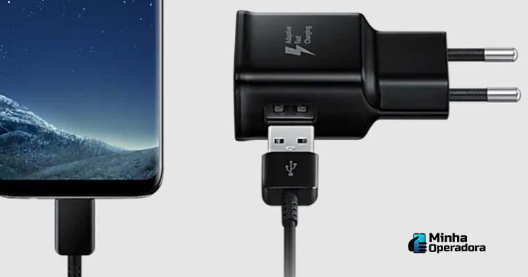 Carregador de tomada da Samsung