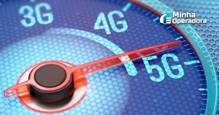 Velocímetro com o ponteiro apontando para o 5G.