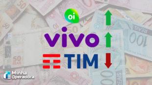 Ações da Oi e Vivo registram alta na Bolsa de Valores em março