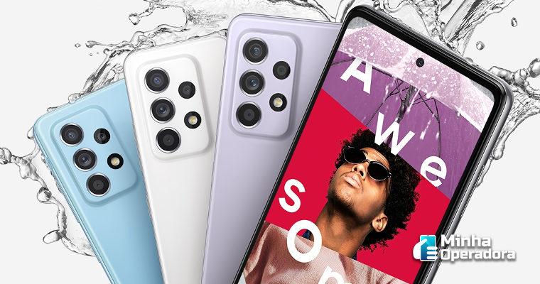 Operadoras começam a venda do Galaxy A52 5G, com direito a brinde
