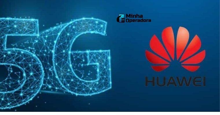 Logomarca do 5G e da Huawei