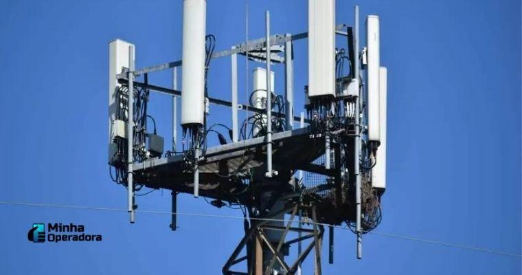 Fotografia de uma antena 5G