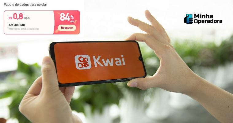 Aplicativo de vídeos Kwai oferece internet por 80 centavos