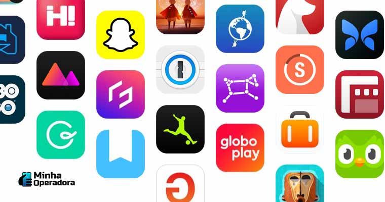 Apps da App Store, loja de aplicativos da Apple.