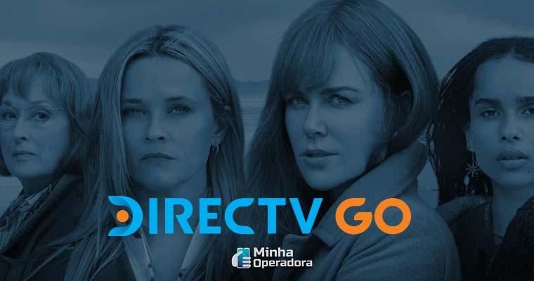 Background do site do DirecTV Go - Divulgação da série Big Little Lies, da HBO.