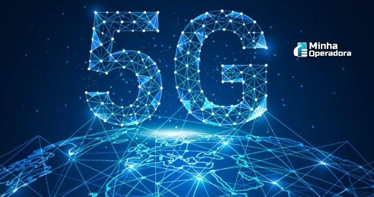 Ilustração do mundo conectado ao 5G