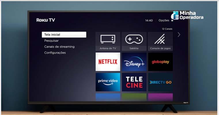 Smart TV AOC com Roku TV. Imagem: Divulgação Roku TV