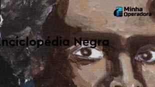 Quadro de uma pintura dos olhos de uma personalidade negra.