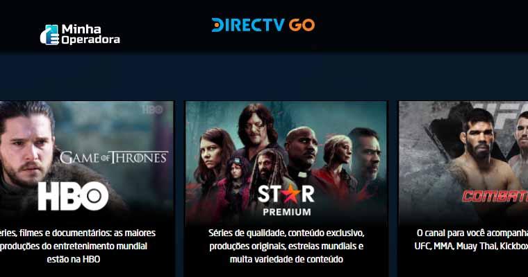 Canais à La Carte do DirecTV Go