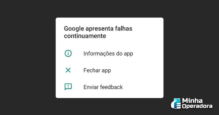 Aplicativo do Google apresenta falha nesta terça-feira