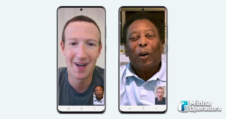 Pelé faz videochamada com Zuckerberg para divulgar WhatsApp Pay