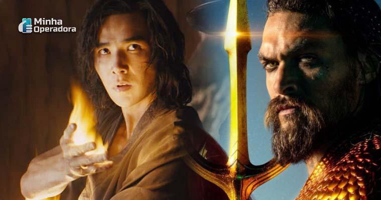 Imagem: Divulgações de Mortal Kombat e Aquaman - Warner Bros. (Conteúdos ausentes do HBO Max)