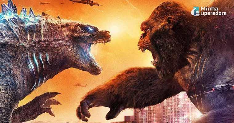 Imagem: Cartaz de Godzilla vs. Kong (Divulgação Warner Bros./HBO Max)