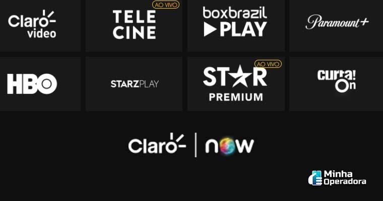 Canais ao vivo no NOW, streaming da Claro net. Imagem: Captura de Tela