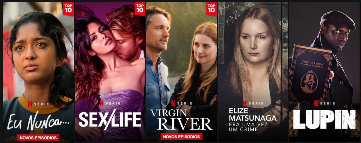 Conteúdos originais Netflix. Imagem: Captura de Tela