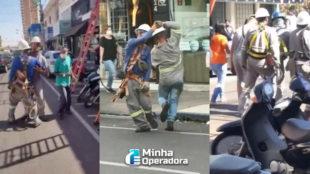 Técnicos de telecom dançam na rua e vídeo viraliza na internet