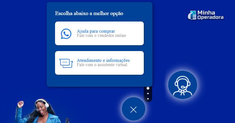 Imagem: Atendimento virtual da TIM - Captura de tela do site oficial