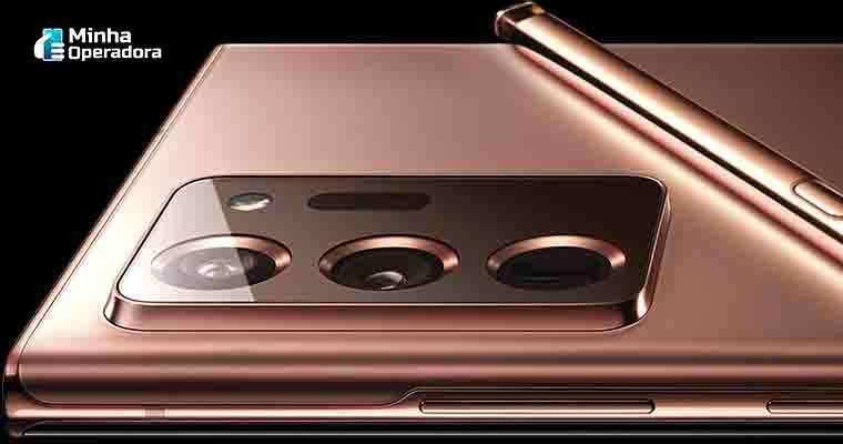 Samsung Galaxy Note 20 Ultra, smartphone com suporte ao 5G. (Divulgação Samsung)