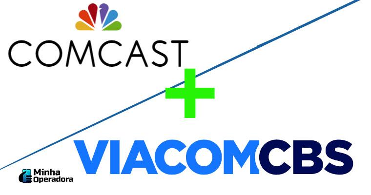 Logotipo Comcast e ViacomCBS / Divulgação