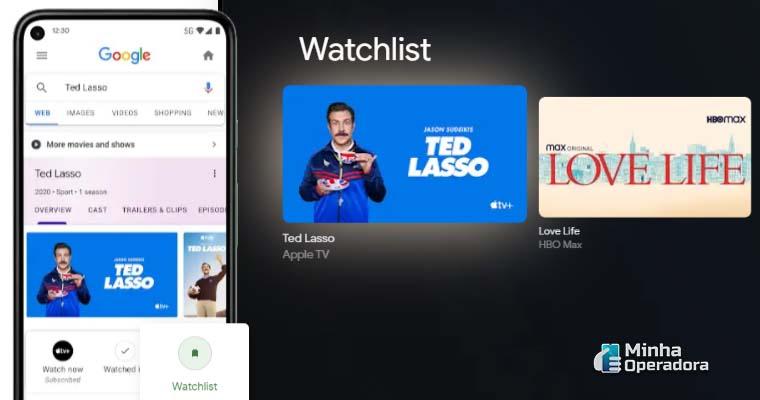 Sistema do Google TV - Captura de tela do site oficial