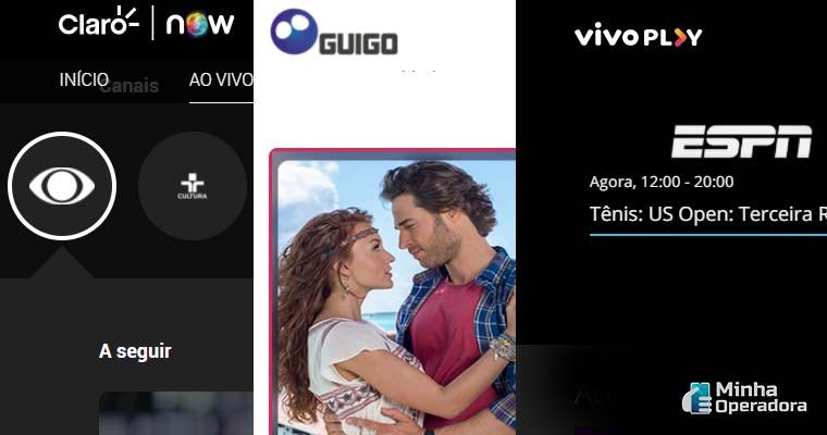 NOW, Guigo TV e Vivo TV ganham mais canais ao vivo