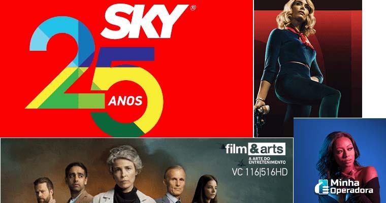 SKY abre sinal de mais de 75 canais na TV por assinatura