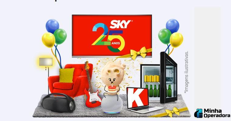 Em comemoração aos 25 anos, SKY lança promoção para assinantes