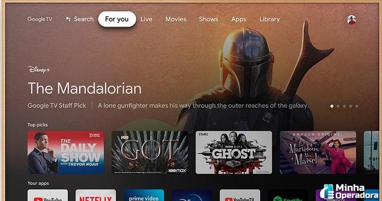 Google TV integra serviço de streaming Pantaya